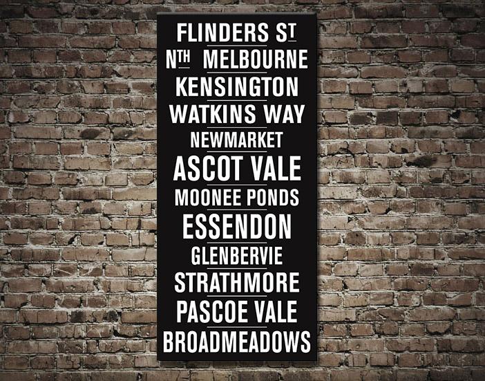 Flinders Street Vintage Tram Scroll | Flinders Street Vintage