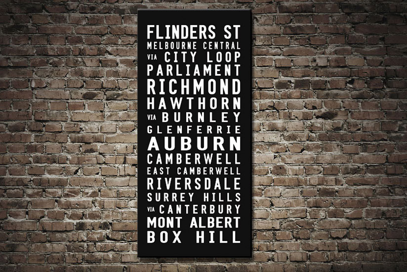 Box Hill Tram Scroll | Contemporary Tram Scroll