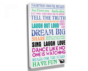 House Rules Scroll Canvas