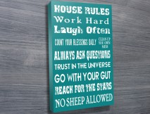 House Rules personalised Canvas Prints