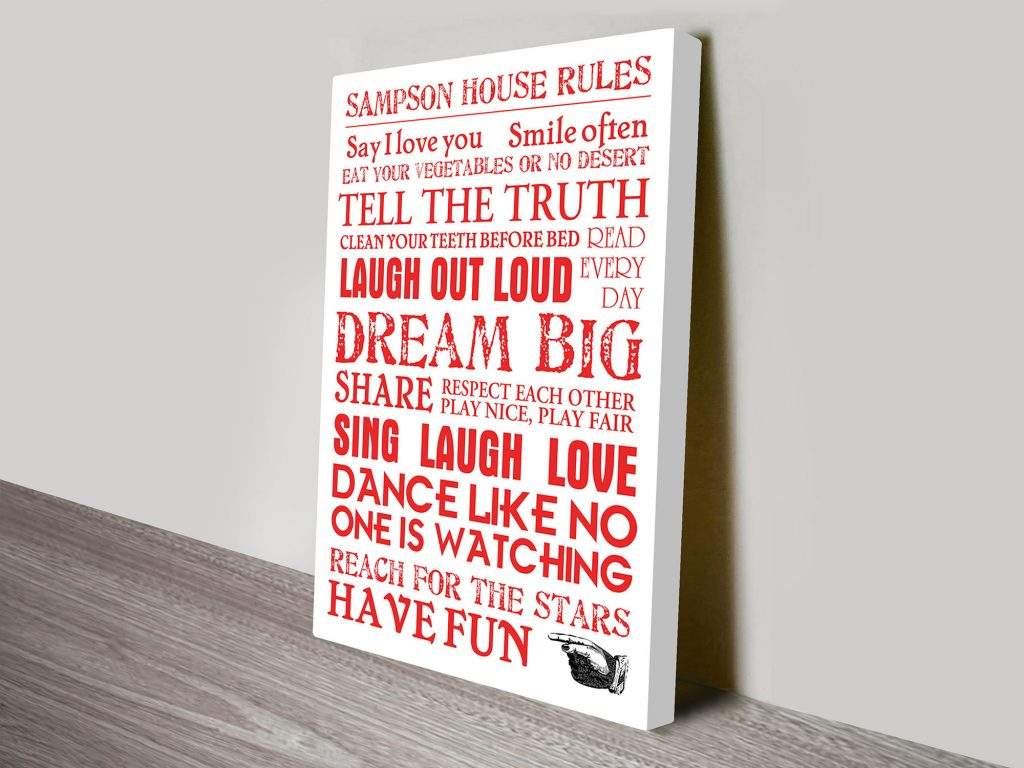 House Rules art for sale