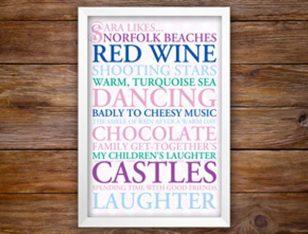 Personalised Typographic Wedding Gift Ideas