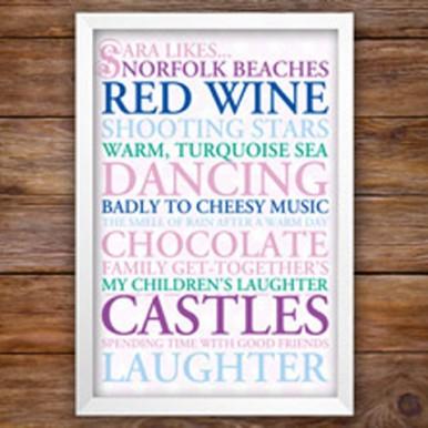 Personalised Typographic Wedding Gift Ideas | I Like
