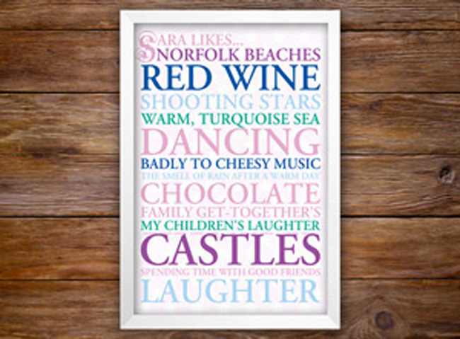 Personalised Typographic Wedding Gift Ideas | Inspirational Series – Friend