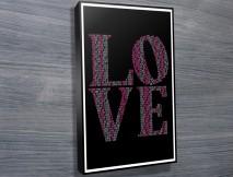 canvasn word art framed