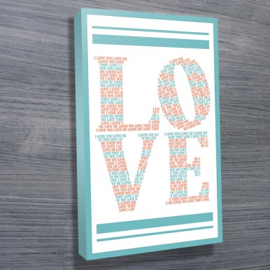 Love canvas wall art | I Love You – White