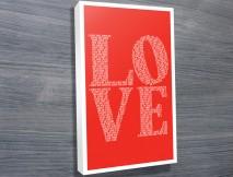 I Love You original wall art
