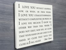 Personalised Quotes and Poems Canvas Art