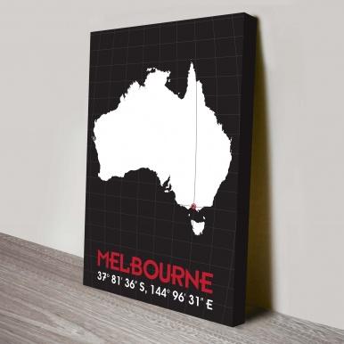 Melbourne Coordinates Art | Coordinates Art Style 2