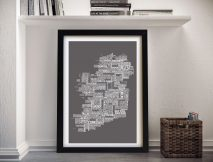Map of Ireland Framed Wall Art