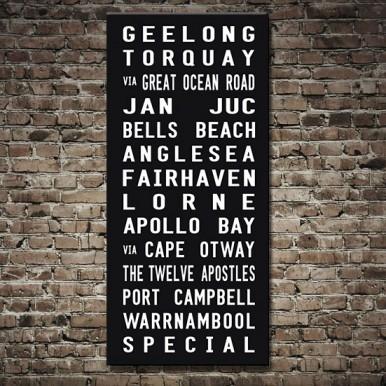 Melbourne Suburbs Tram scroll | Melbourne Tram Scroll