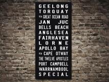 Melbourne Suburbs Tram scroll