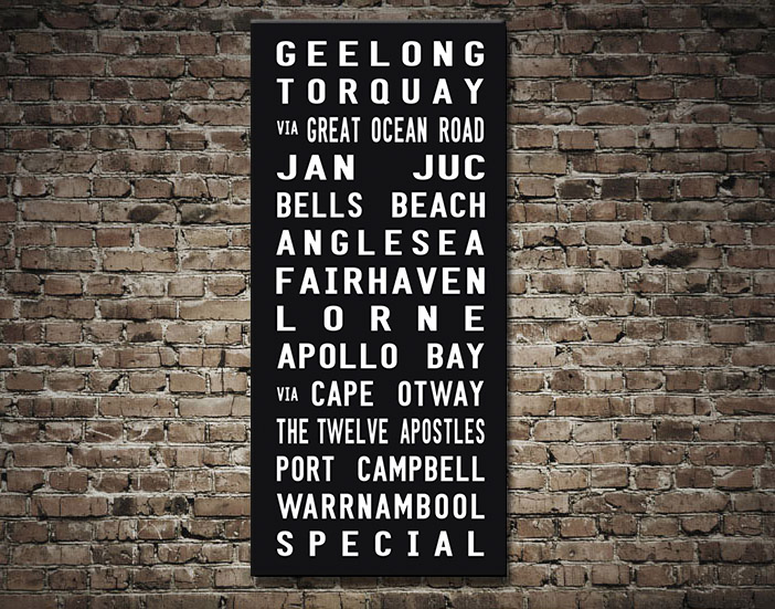 Melbourne Suburbs Tram scroll | Geelong Destination Scroll