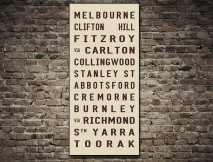 Melbourne Tram scroll canvas Print