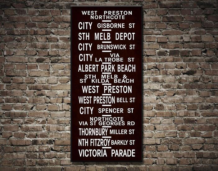 Melbourne Vintage Tram scroll | Melbourne 112 Vintage scroll