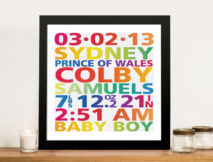 Personalised New Born baby Art