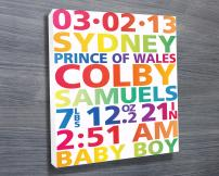 Personalised New Born baby Art | New Born Baby Art