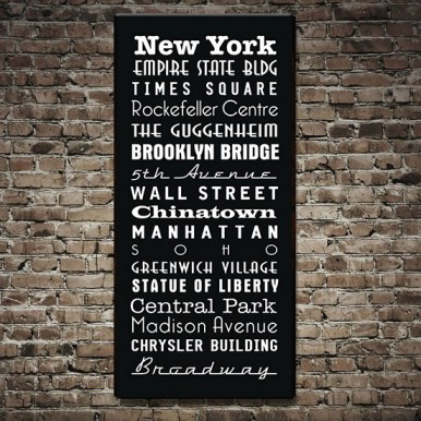 New York Subway Sign Art | New York Bus Scroll