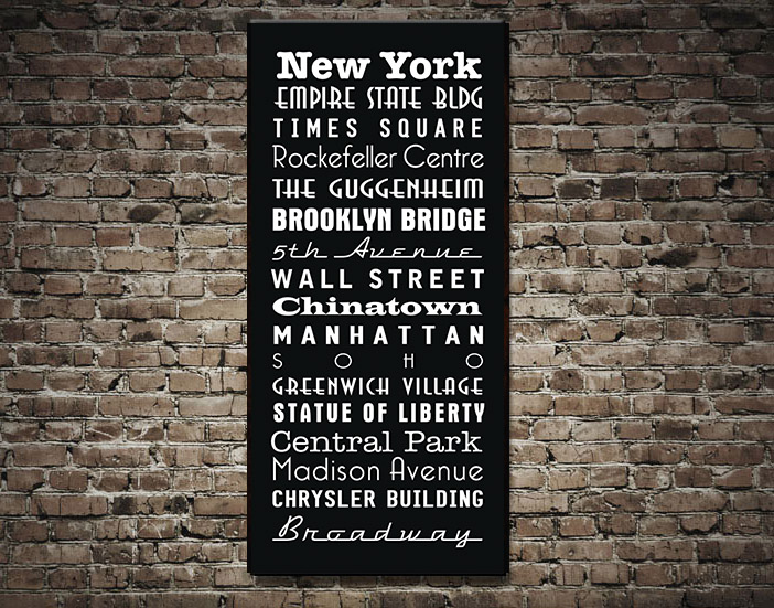 New York Subway Sign Art | New York Bus Scroll
