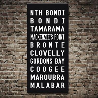 North Bond Tram scroll Canvas Print | North Bondi Tram scroll