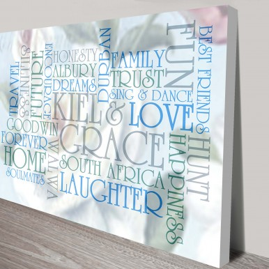 Personalised Art Gifts | Subtle Photo Background
