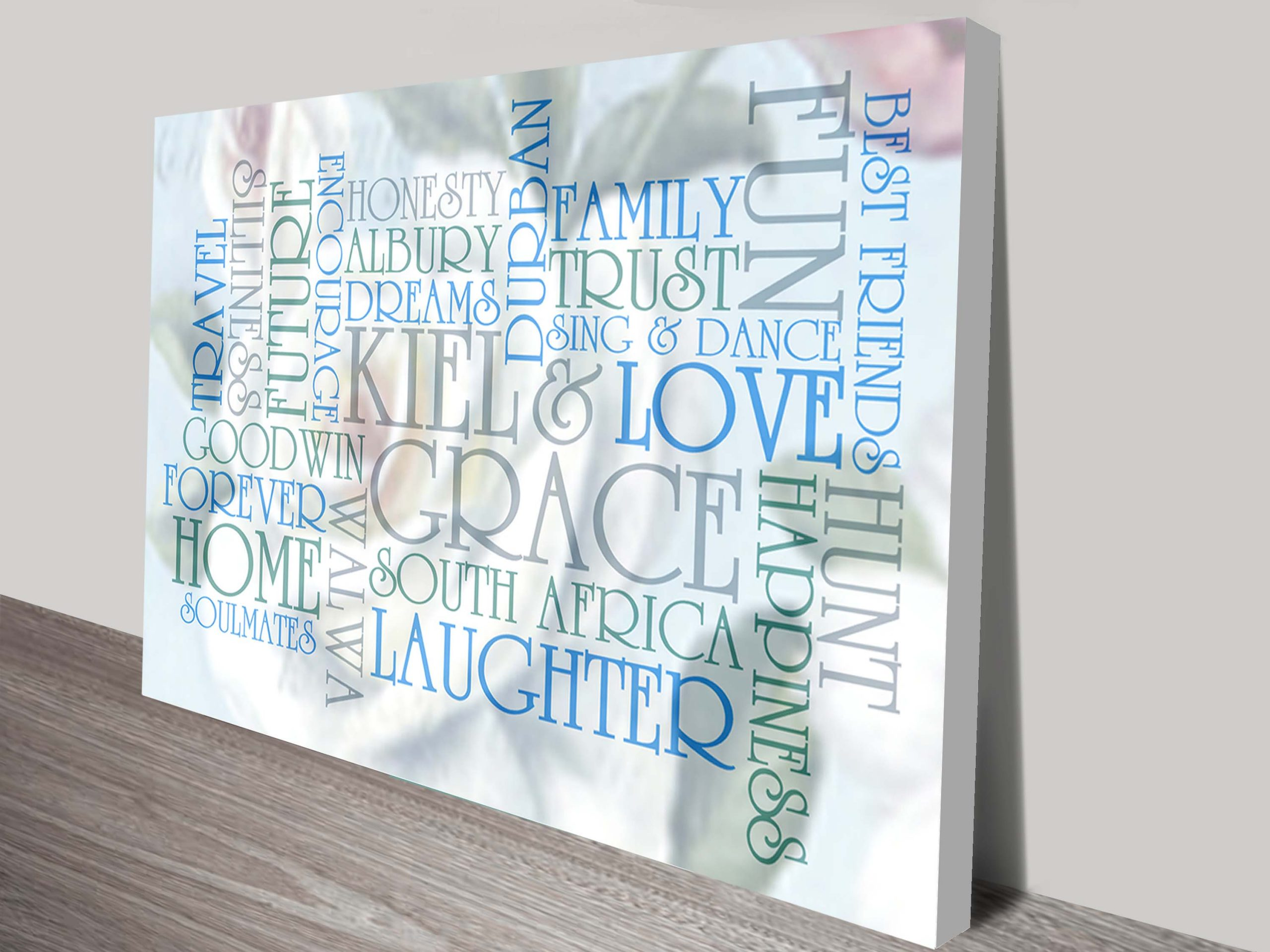 Personalised Art Gifts | Subtle Photo Background