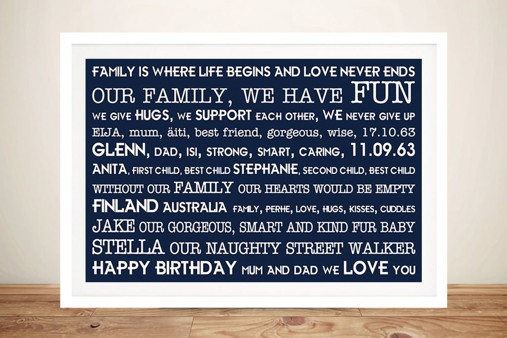 Personalised Mothers Day Present Art