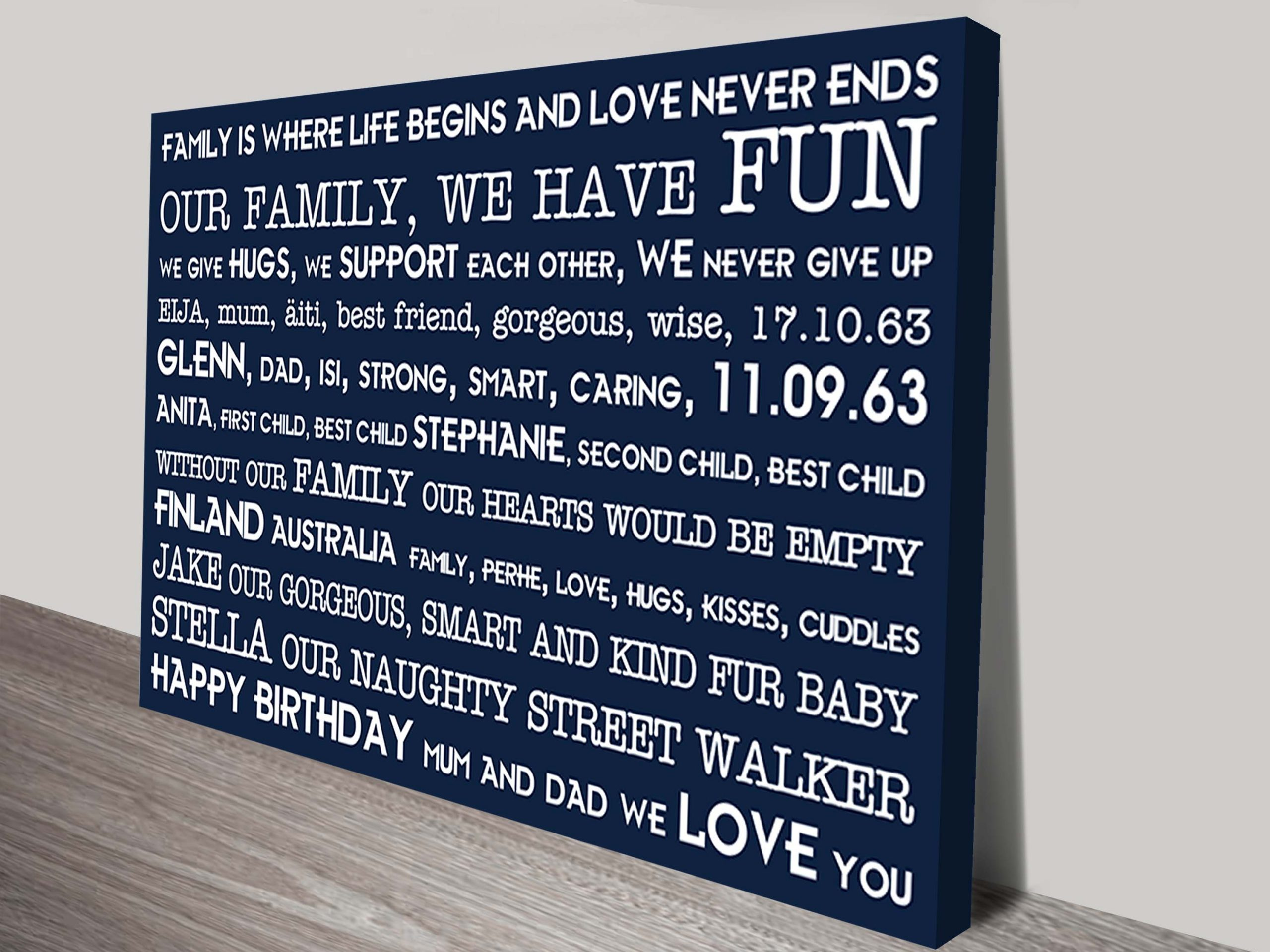 Personalised Art Present Idea | Love Never Ends