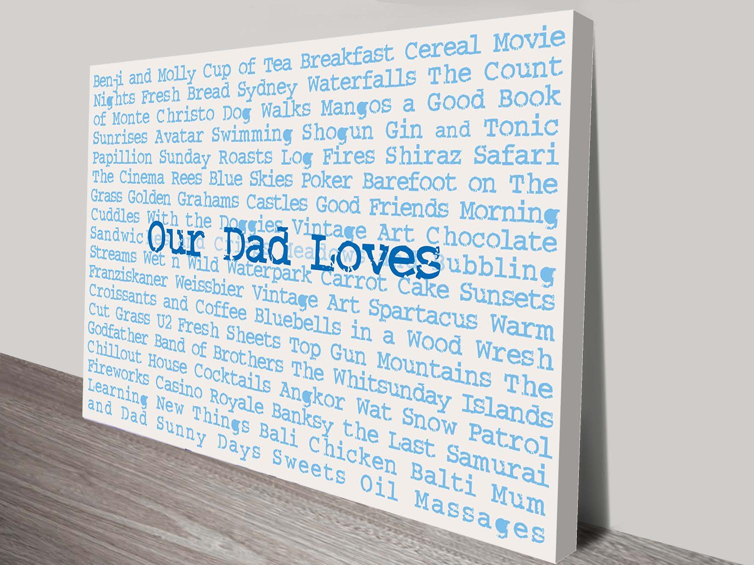 Personalised Artwork Fathers Day Gift Ideas | Our Dad Loves