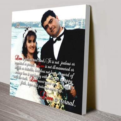 Personalised Photo Word Art | Partial Text On Photo