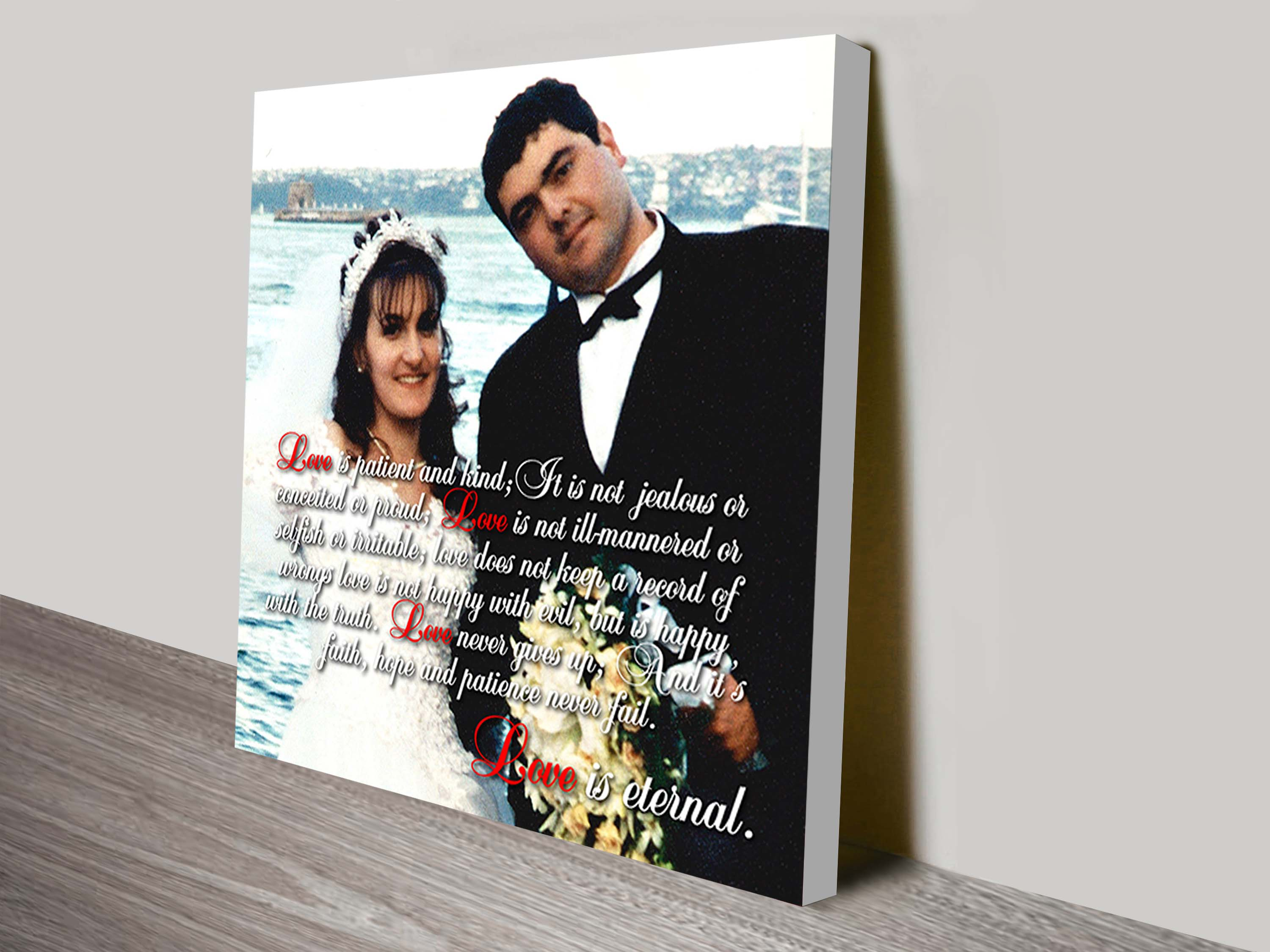 Personalised Photo Word Art   Partial Text On Photo