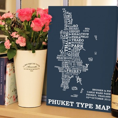 Phuket type word map | Phuket Word Map