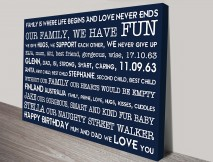 Poems and Rhymes Personalised Artwork on Canvas