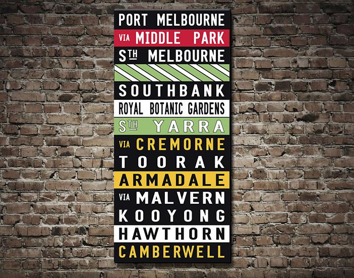 Port Melbourne Tram scroll
