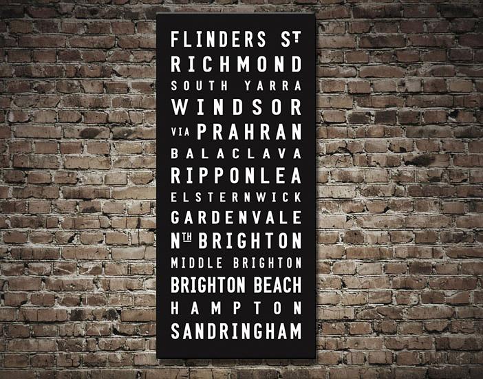 Sandringham Tram scroll | Sandringham Contemporary