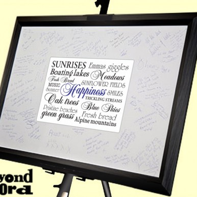 | Signature Frame With Happiness Bespoke Art