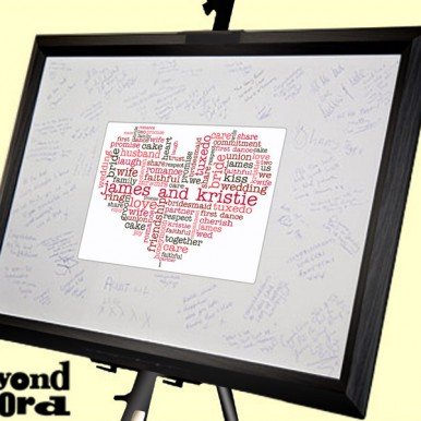 | Signature Frame With Wedding Hearts