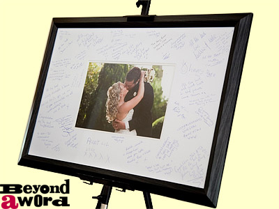| Signature Frame With Wedding Photo
