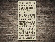 St Kilda Tram Scroll Art