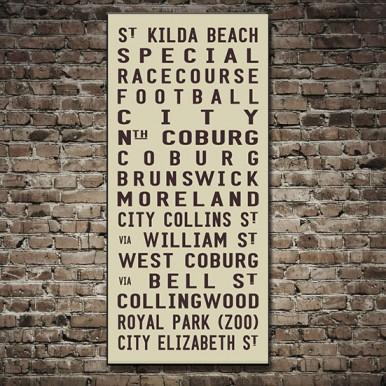 St Kilda Tram Scroll Art | St Kilda Beach – Beige