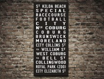 St Kilda Tram scroll Wall Art