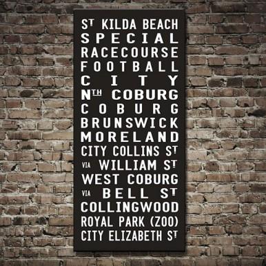 St Kilda Tram scroll Wall Art   St Kilda Beach Tram Scroll