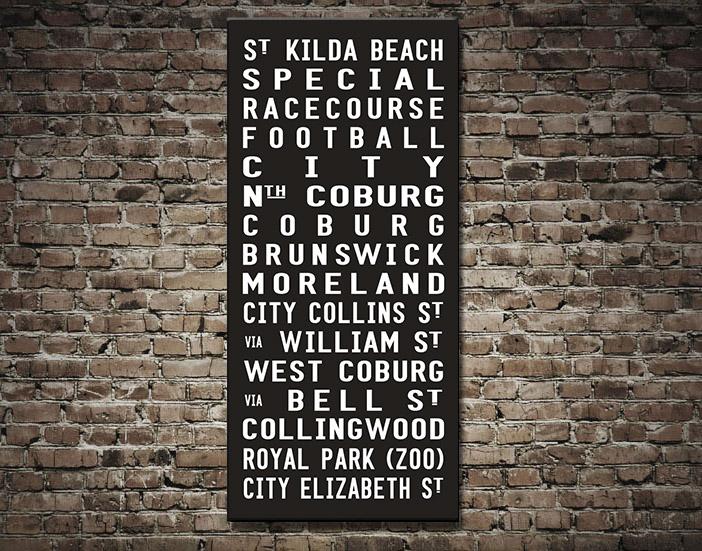 St Kilda Tram scroll Wall Art | St Kilda Beach Tram Scroll