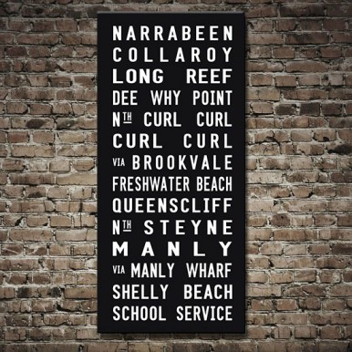 Sydney-Northern Suburbs Tram scroll | Manly Tram Scroll