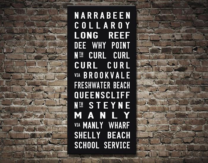 Sydney-Northern Suburbs Tram scroll | Manly Tram Scroll