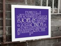 Wedding Personalised Print