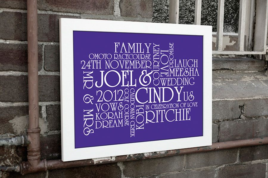 Wedding Personalised Print | The Big Day, Wedding Canvas