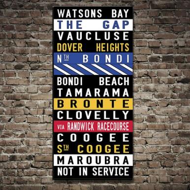 Watsons Bay Coloured Tram scroll   Watsons Bay