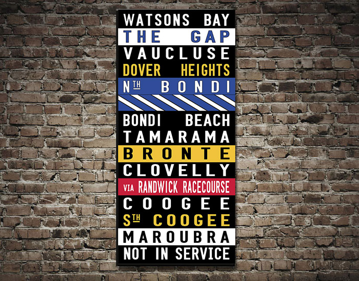 Watsons Bay Coloured Tram scroll | Watsons Bay