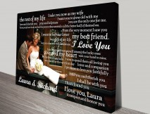 Wedding vowels word art gifts